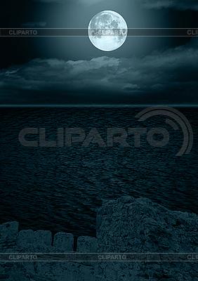 Full moon w chmurach | Foto stockowe wysokiej rozdzielczości |ID 3116477