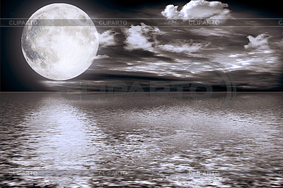 Full moon over water | High resolution stock photo |ID 3139670