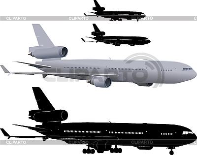 Verkehrsflugzeug | Illustration mit hoher Auflösung |ID 3113350