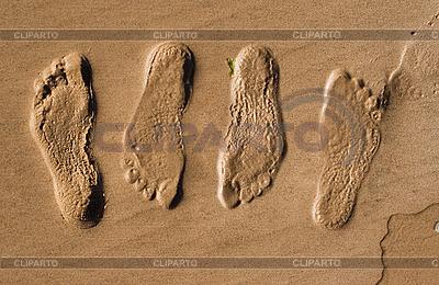 모래에 발자국   높은 해상도 사진  ID 3113702