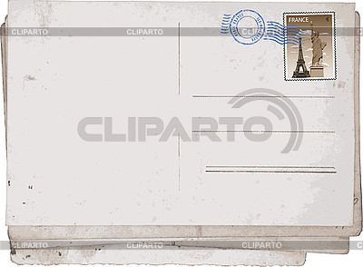 Old postcard from Paris | Stock Vector Graphics |ID 3114029