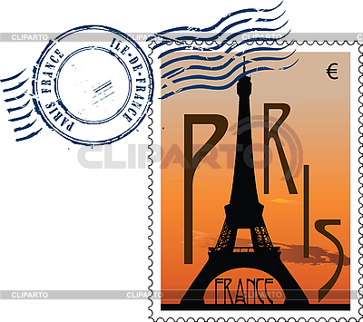 Postmark from france   Stock Vector Graphics  ID 3114099