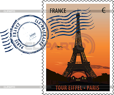 Paris postage stamp | Stock Vector Graphics |ID 3114102
