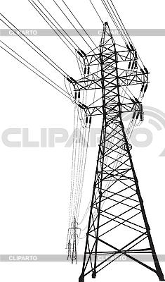 高低压电力线 | 向量插图 |ID 3114205