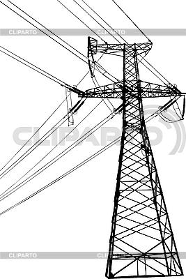 Linia wysokiego napięcia elektrycznego | Klipart wektorowy |ID 3114210