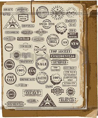 Sammlung von Stempeln | Stock Vektorgrafik |ID 3114276