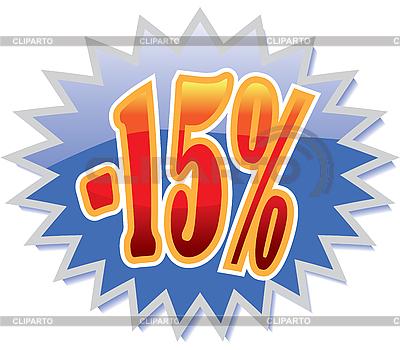 Rabatt-Etikett 15-Prozent | Stock Vektorgrafik |ID 3114431