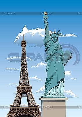 自由女神像在巴黎   向量插图  ID 3114456