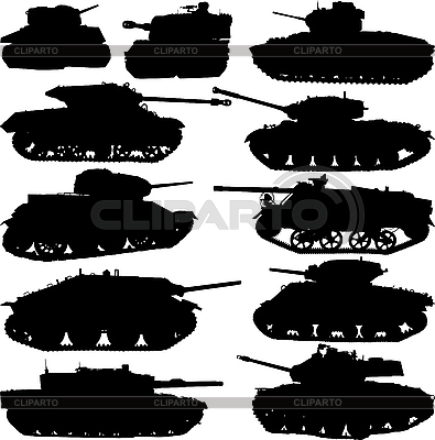 Tank silhouettes | Stock Vector Graphics |ID 3114493