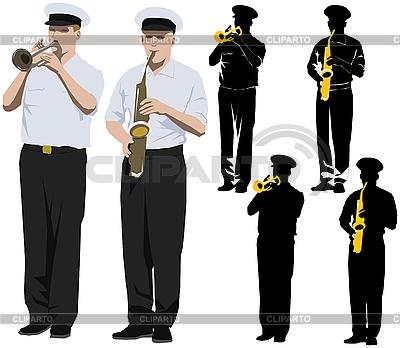 Military musicians   High resolution stock illustration  ID 3114653