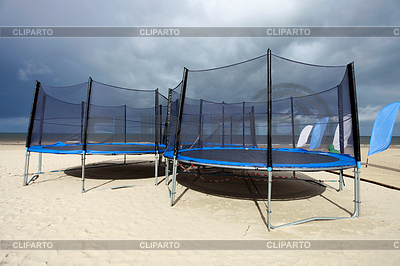 Trampolines in beach | High resolution stock photo |ID 3223717