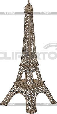 Eiffel tower in Paris, France | High resolution stock illustration |ID 3223728