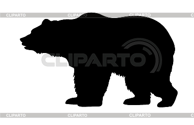 Silhouette of bear | Stock Vector Graphics |ID 3113273