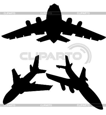 Sylwetki samolotów lotniczych | Klipart wektorowy |ID 3114689