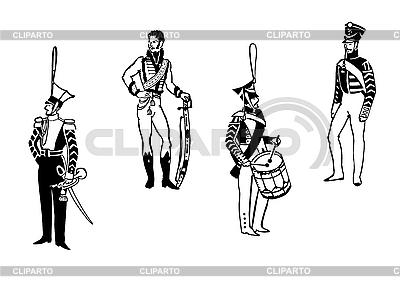 Funkcjonariusze starej armii | Klipart wektorowy |ID 3115021