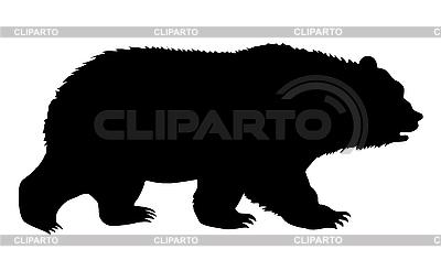 Silhouette bear   Stock Vector Graphics  ID 3201898
