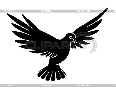 Silhouette einer Taube | Stock Vektorgrafik |ID 3202777