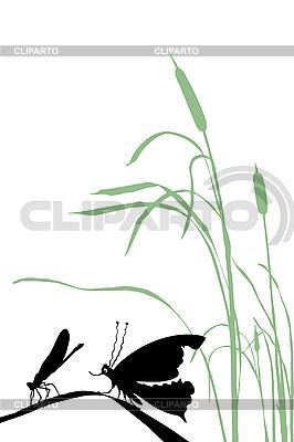Silhouette eines Insekts | Stock Vektorgrafik |ID 3202831