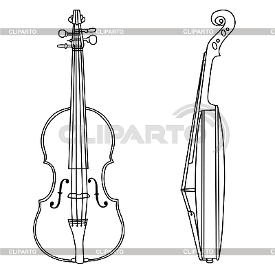 Kontur der Violine | Stock Vektorgrafik |ID 3220656