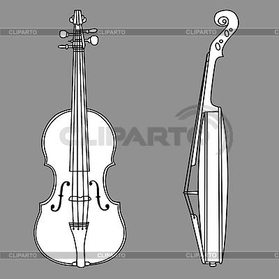 바이올린 실루엣 | 벡터 클립 아트 |ID 3221258