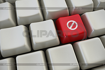 Keyboard with prohibition button | High resolution stock illustration |ID 3116534