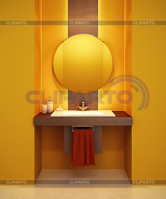 Modern bathroom interior | High resolution stock illustration |ID 3125723