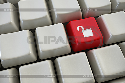 Keyboard with lock button | High resolution stock illustration |ID 3127974