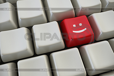 Keyboard with smile button | High resolution stock illustration |ID 3133632