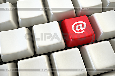 Keyboard with email button   High resolution stock illustration  ID 3184231