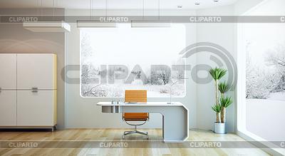 Interior De Oficinas Modernas. Interior De La Oficina Moderna Con ...