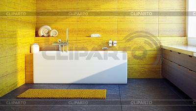 Modern interior design of bathroom | High resolution stock illustration |ID 3267926