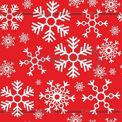 Seamless background of snowflakes | Stock Vector Graphics |ID 3116763