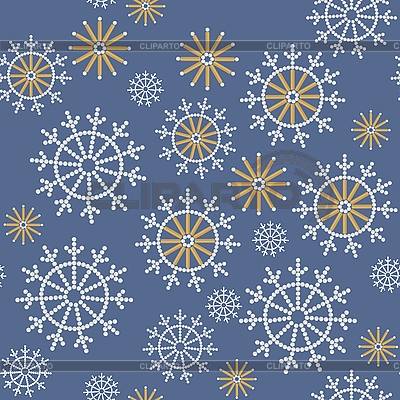 Seamless background of snowflakes | Stock Vector Graphics |ID 3116777