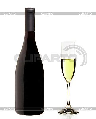 Botella de cava y champ n cristal foto de alta for Cava cristal