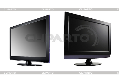 Two LCD high definition flat screen TV | High resolution stock photo |ID 3239807