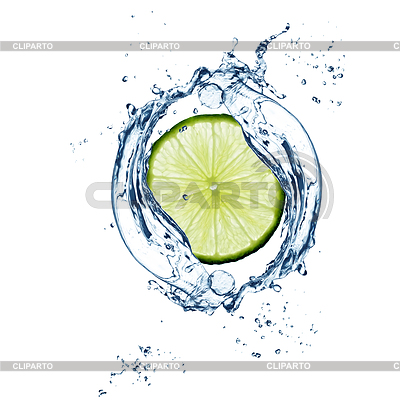 Lime in water concept | 高分辨率照片 |ID 3239820