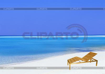 Beach chair sandy tropical beach   High resolution stock photo  ID 3242011