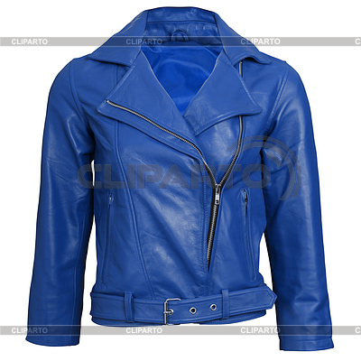 A blue leather jacket | High resolution stock photo |ID 3356116