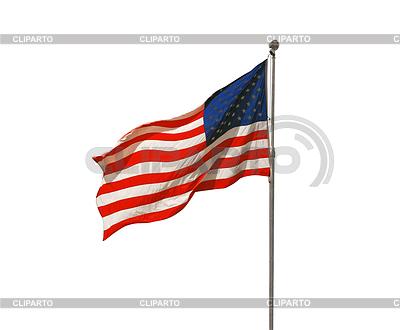 Amerykańska flaga trzepotanie | Foto stockowe wysokiej rozdzielczości |ID 3356147