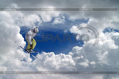 Freestyle ski jumper   High resolution stock photo  ID 3117674