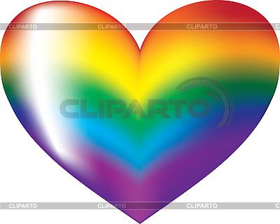 Colorful rainbow heart symbol | Stock Vector Graphics |ID 3127942