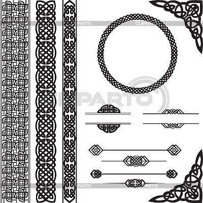 Dekoracyjny ornament w stylu celtyckim | Klipart wektorowy |ID 3149390