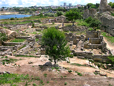 Ruins of the ancient city of Chersonesus   High resolution stock photo  ID 3164732