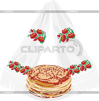Pfannkuchen und Handtuch | Stock Vektorgrafik |ID 3166963
