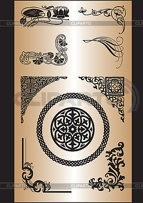 Ornamental corner patterns | Stock Vector Graphics |ID 3170700