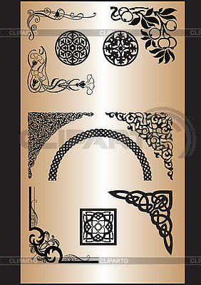 Ornamental corner patterns | Stock Vector Graphics |ID 3170704