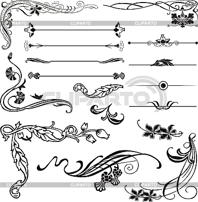 Art Nouveau corners and ornaments | Stock Vector Graphics |ID 3187561