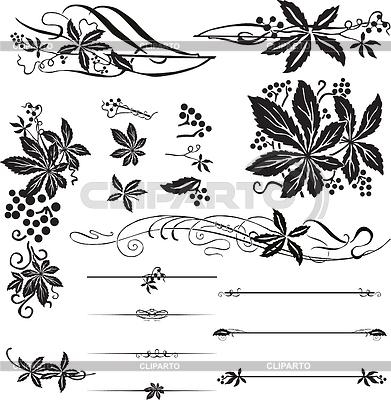 Ornamente mit den wilden Trauben | Stock Vektorgrafik |ID 3215630