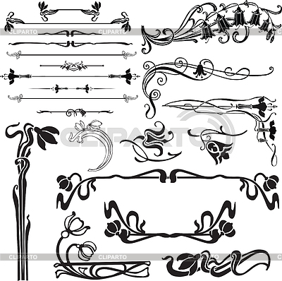 Art nouveau decoration | Stock Vector Graphics |ID 3275006