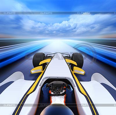 Гоночный болид на скоростной трассе | Фото большого размера |ID 3123711